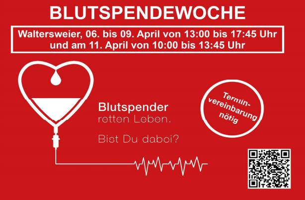 Blutspendenaufruf / Blutspendenwoche